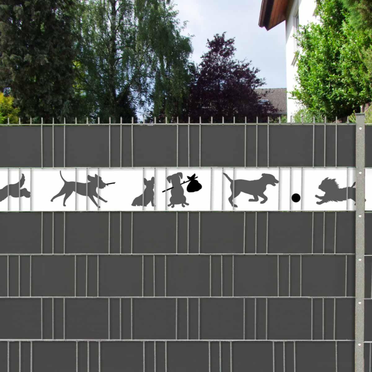 Zaun Sichtschutzstreifen Mit Tiermotiv Hunde Dynamische