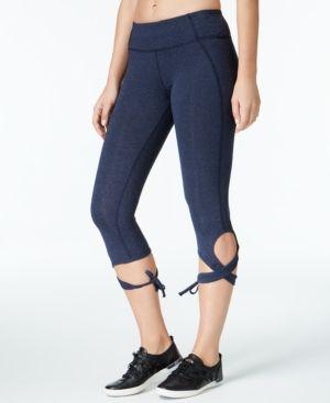 Calvin Klein Performance Wrap-Around Tie Cropped Leggings - Blue XL