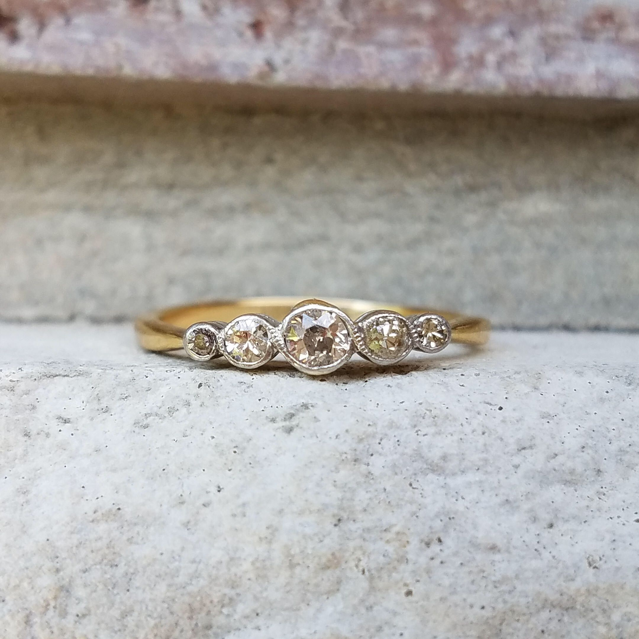 products marie ring diamond and amarie antique bezel size ready halo ship bands style to yellow rosecut gold