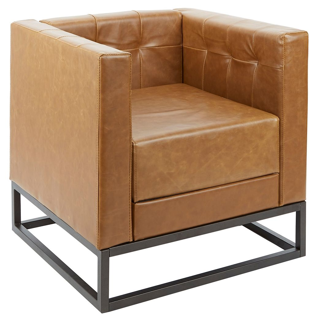 Best Chestey Square Upholstered Accent Chair With Metal Base 400 x 300