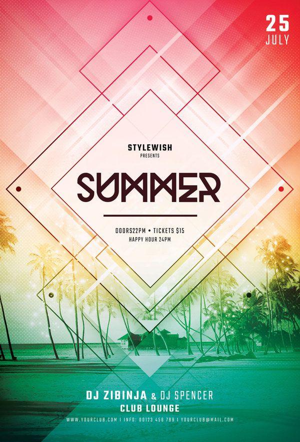 Summer Flyer Template Flyer template, Template and Flyer design