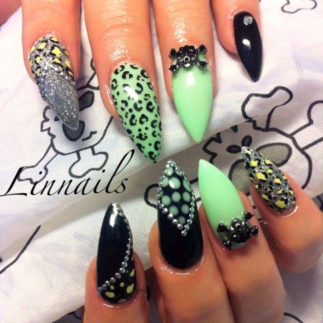 I LOVE the colors! | Nails | Pinterest | Uñas acrílico, Uñas picudas ...