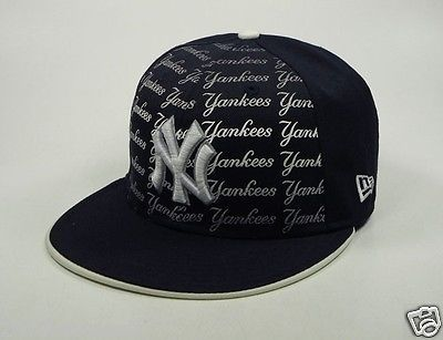New Era 59fifty New York Ny Yankees Fitted Fadeout Navy Hat Cap