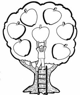 Person Picking an Apple from a Tree via doodletherapy
