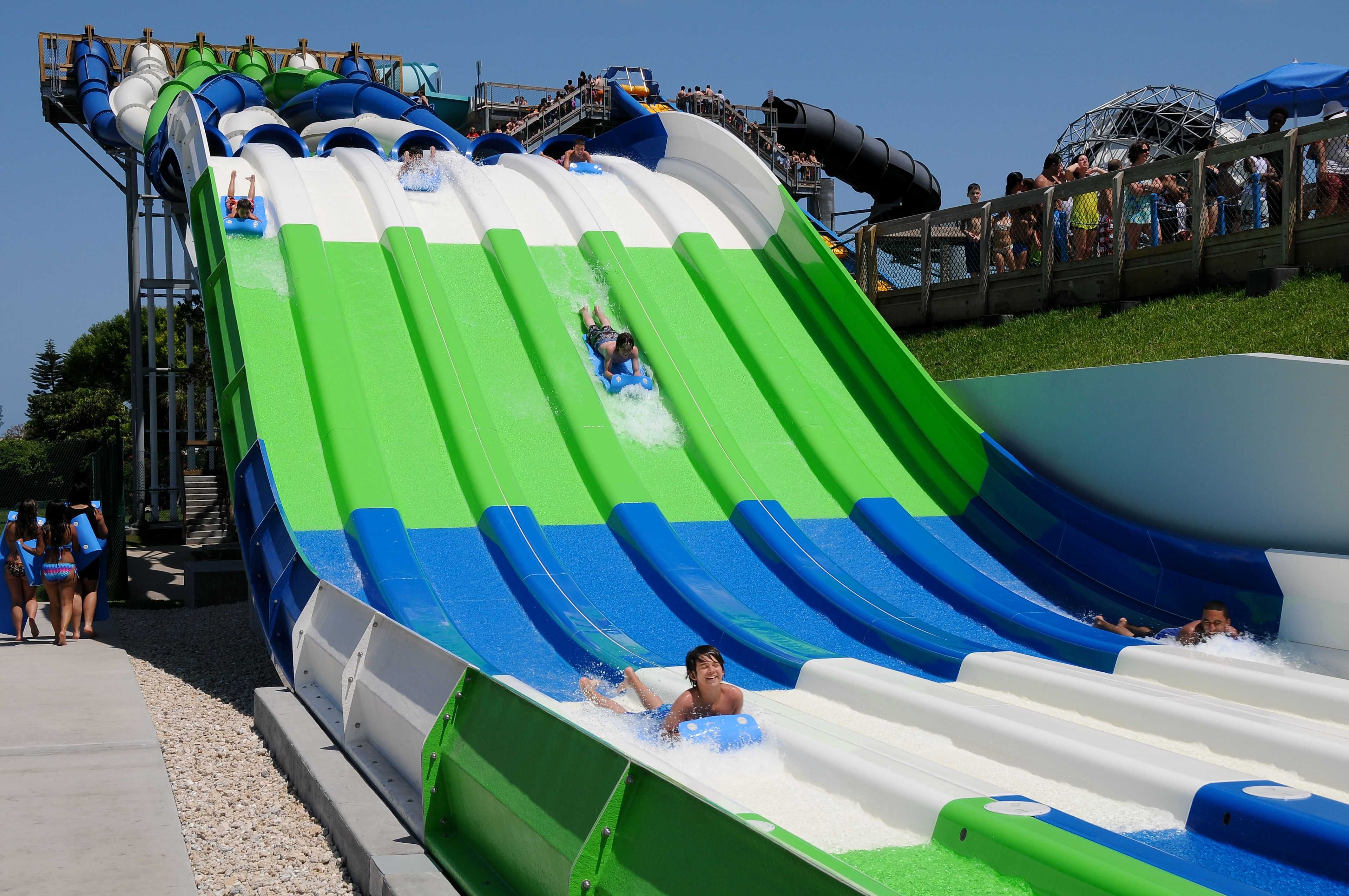 Rapids Water Park S Newest Attraction Racer Located In West Palm Beach Fl