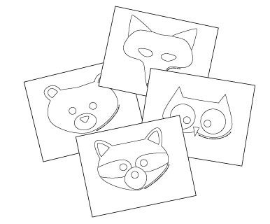 Woodland creature masks animal masks pinterest animal mask free printable animal masks templates fox mask owl mask bear mask raccoon mask maxwellsz