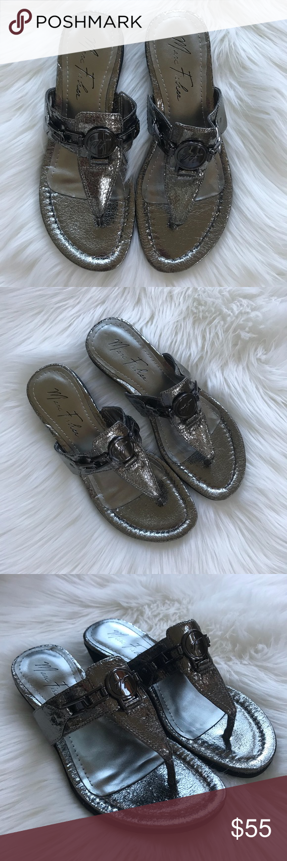 8a8bed7b25d NWOT Marc Fisher Amina Thong Sandal Size 7.5 Beautiful NWOT Amina Thong  Sandals from Marc Fisher. Size 7.5. All man made materials. Good condition.