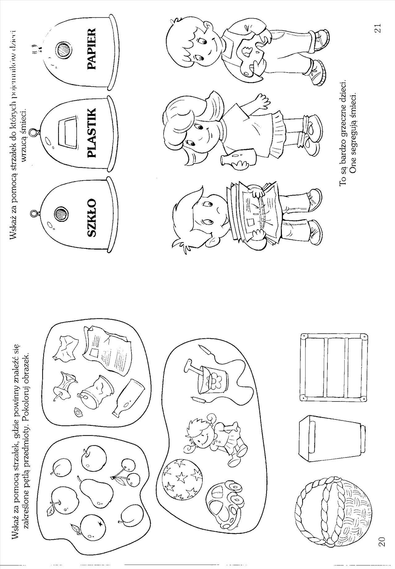 Karta Pracy Ekologia In 2020 Activities For Kids Activities Kids