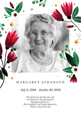 Spring Hug Memorial Card Template Free Greetings Island Memorial Cards Memorial Service Invitation Funeral Invitation