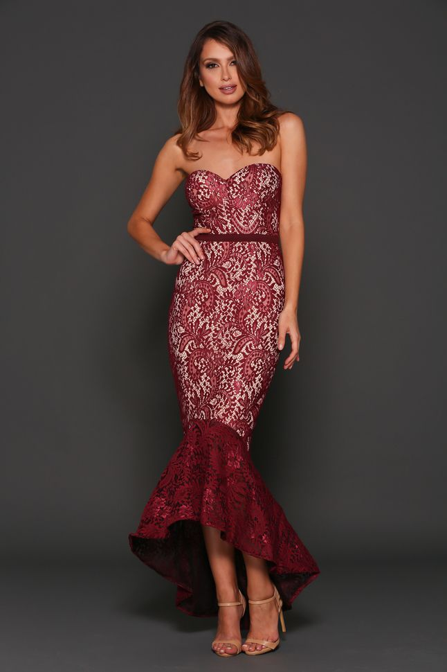 b2bf7ceb9fbb8 Shop the Alexa Dress in Wine by Elle Zeitoune online at Pure Moda ...