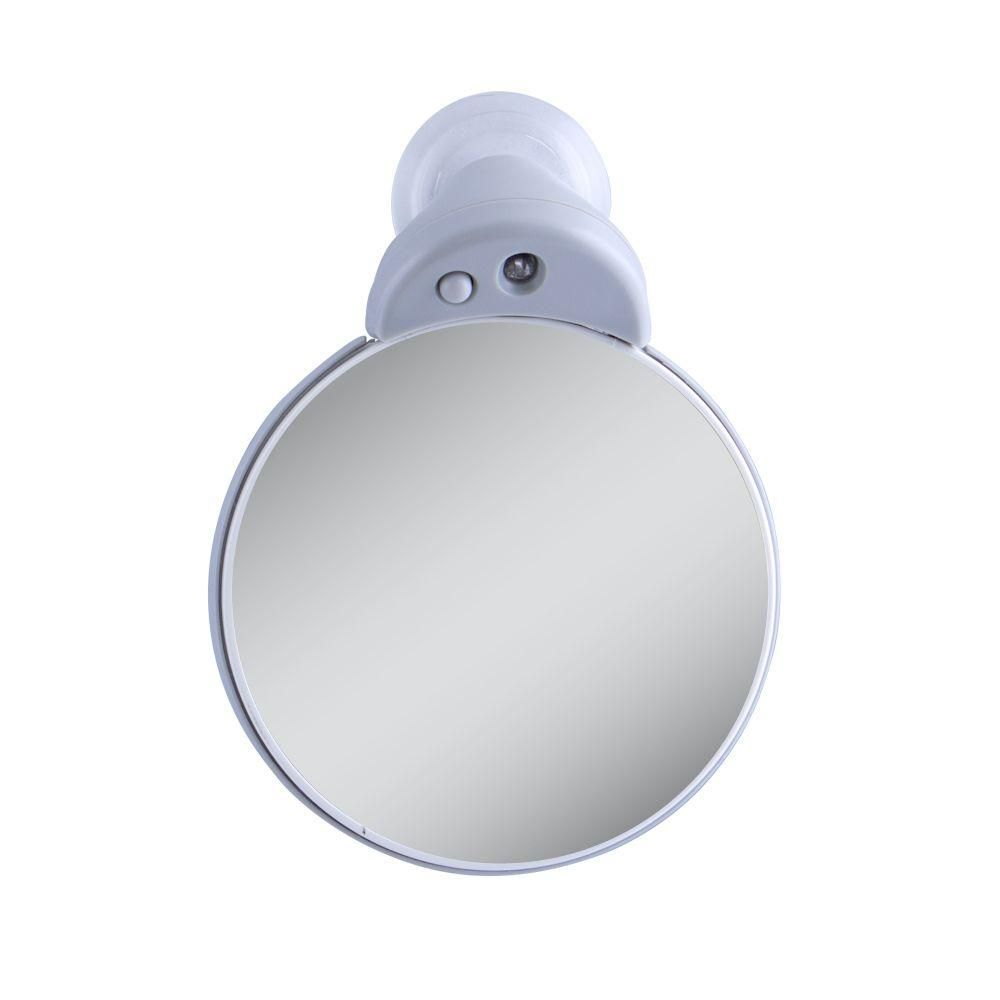 Zadro 10x 5x Lighted Magnification Spot Makeup Mirror In Gray