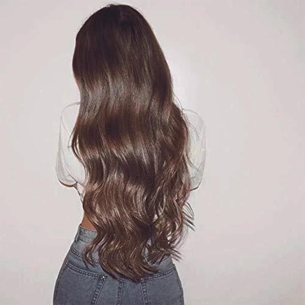 Long Brown Big Wavy Wigs