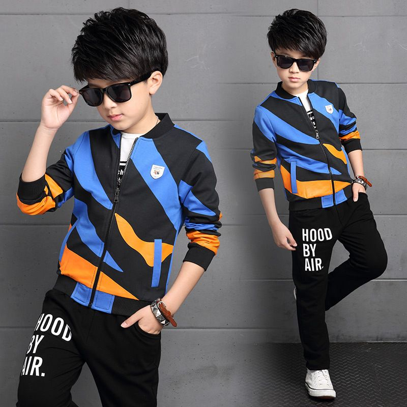 Click To Buy Spring Big Virgin Children Kids Boys Print Clothes Set Tracksuit For Boys Clothing Sets Kids Outfits Cute Boy Outfits Cute Outfits For Kids