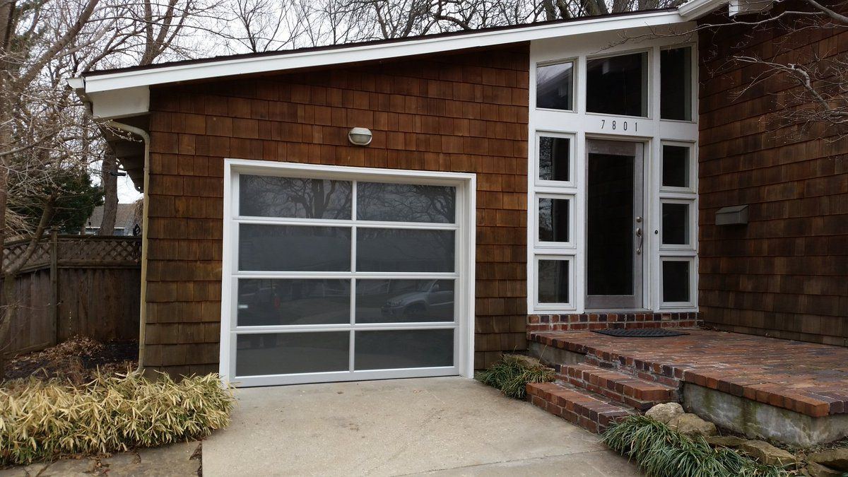 Clopay Avante Collection Glass Garage Door Modern Curb