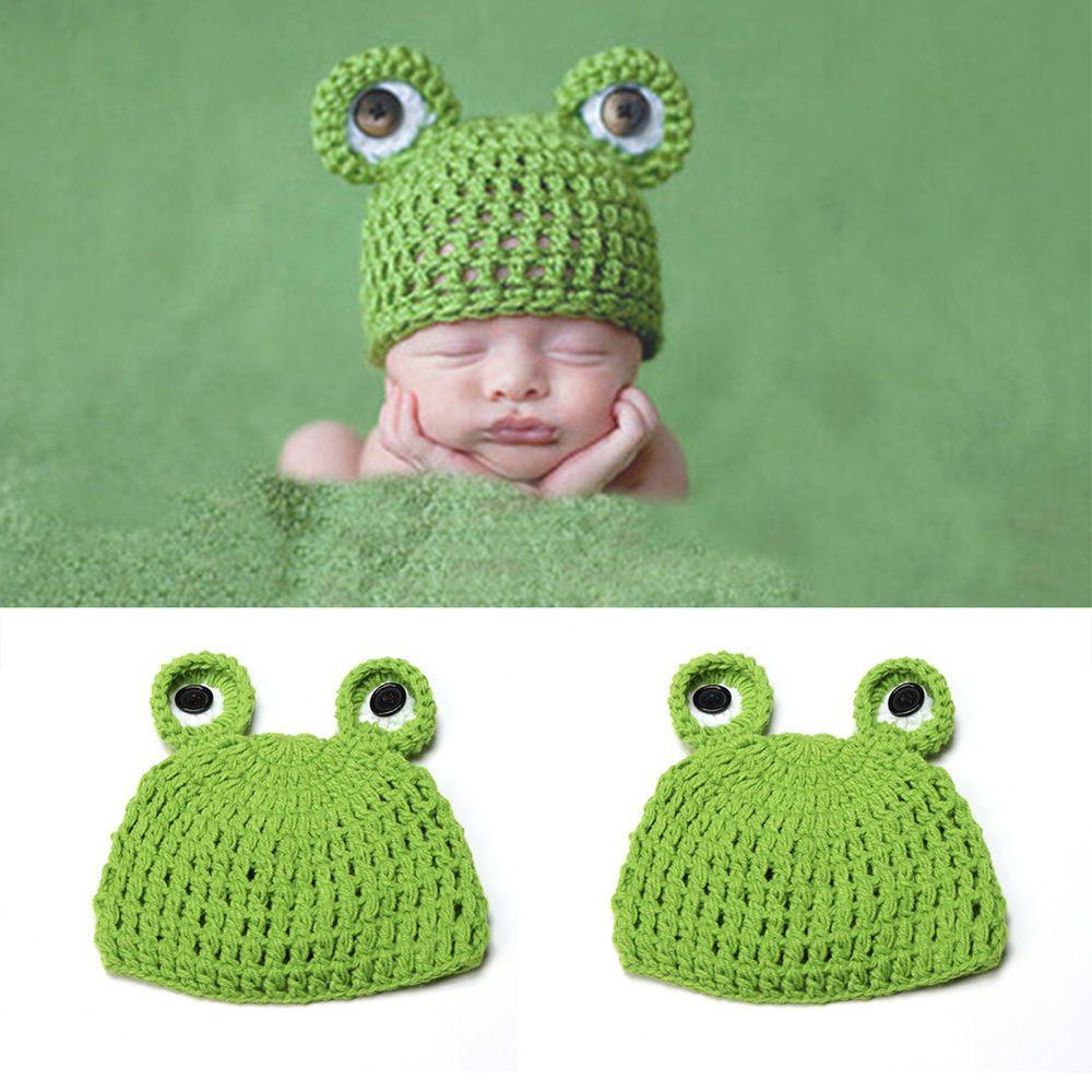 Details zu Fotoshooting Baby Fotografie Frosch Strick Mütze Kostüm ...
