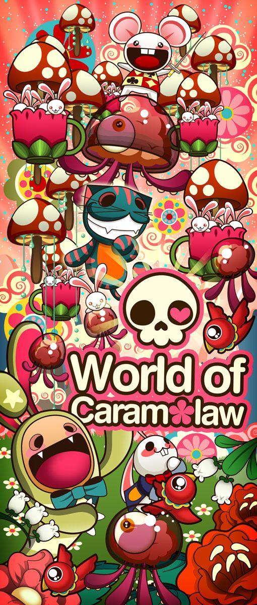 Caramelaw Standee by Caramelaw a.k.a Sheena Aw, via Behance