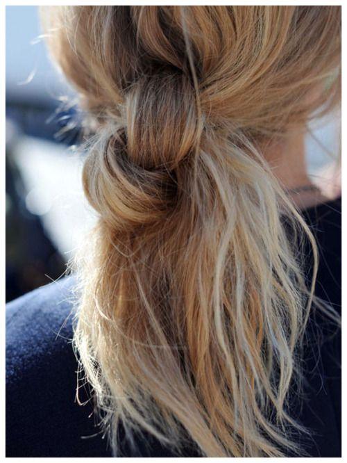 \\ pony knot