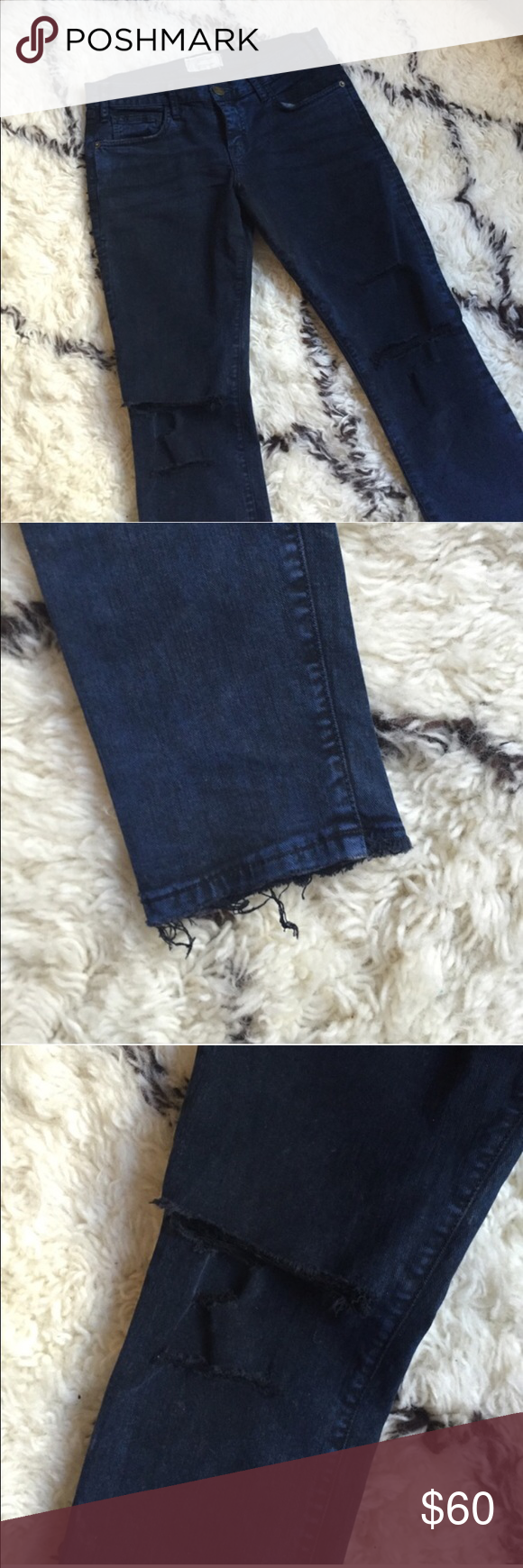 Current Elliot Distressed Ankle Skinny Current Elliot Distressed Ankle Skinny. No size tag but best fits a size 28. Posh find & pictures from @caramia10012 :) Current/Elliott Jeans Skinny
