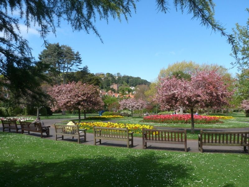 The Blenheim Gardens Minehead Somerset in the Spring.