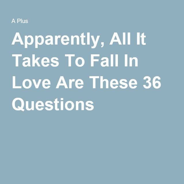 Apparently, All It Takes To Fall In Love Are These 36 Questions