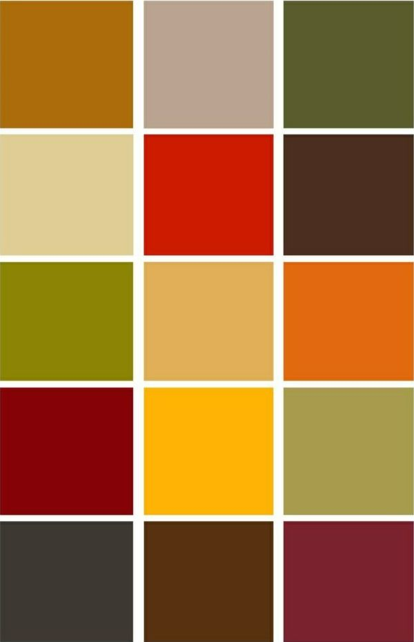 Farbpalette Herbsttyp Trendfarben Herbst Winter 2014 2015 Fall