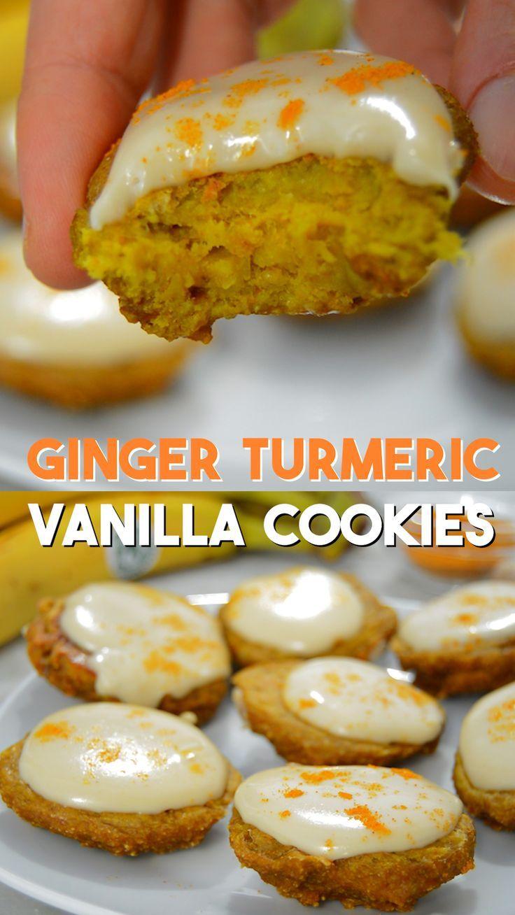 No Flour, No Eggs, No Dairy - Healthy Golden Ginger Cookies