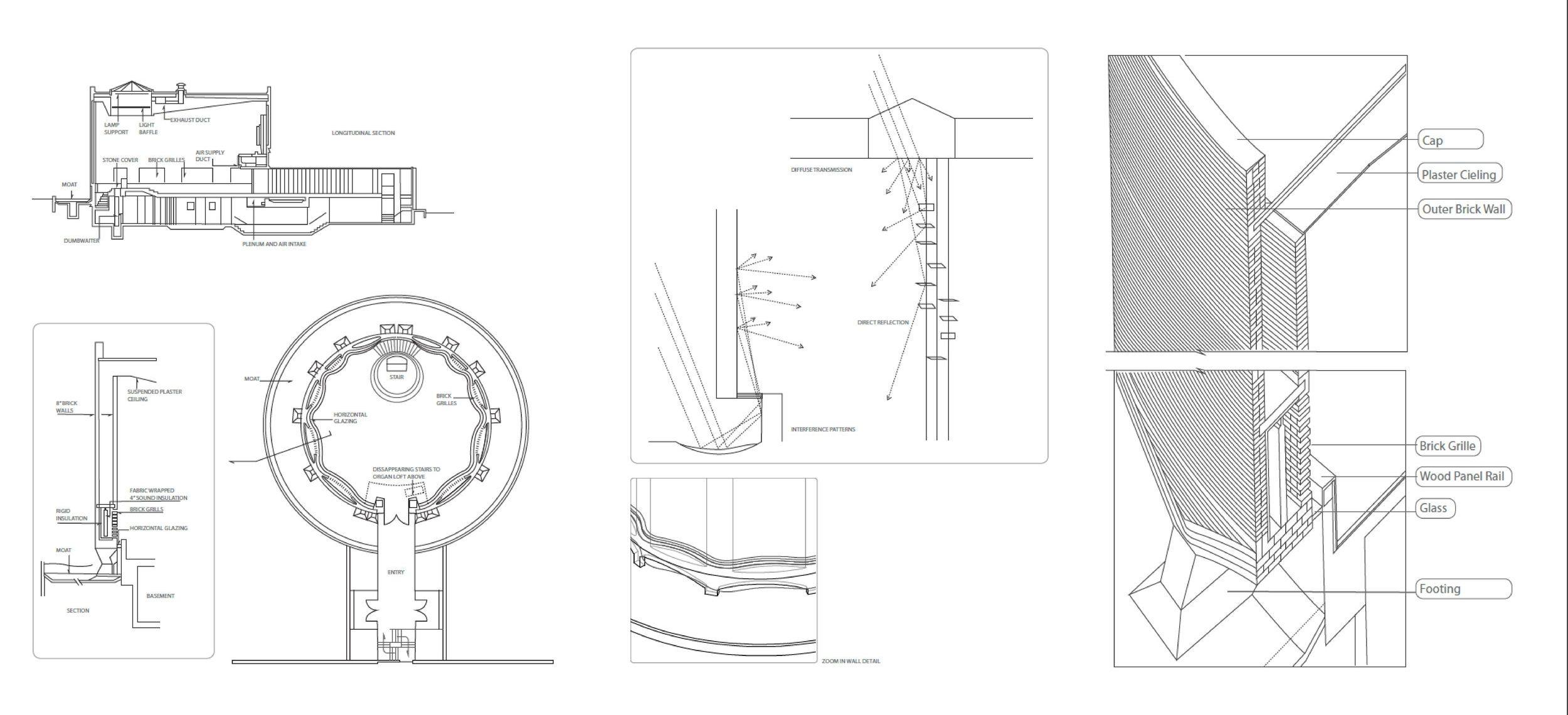 Eerro Saarinen S Mit Chapel Detailed Drawings Saarinen Eero Saarinen