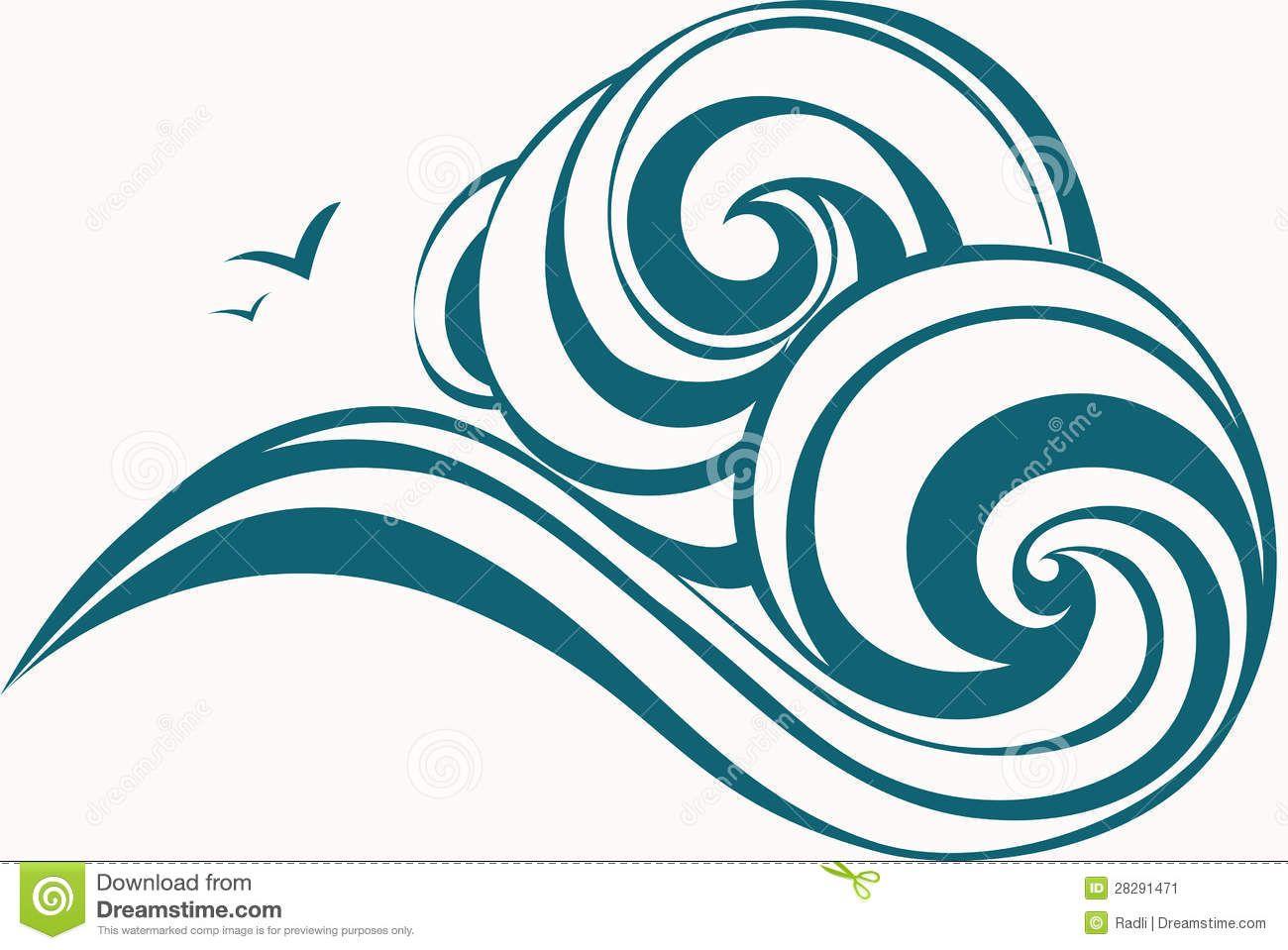 Waves printable. Ocean clipart panda free