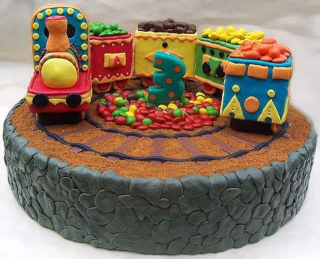 3D Train Cake Cake Birthday cakes and Cake kids