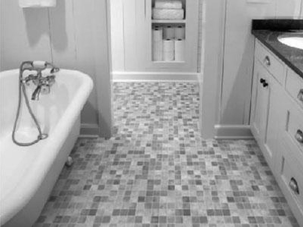 Black And White Bathroom Floor Tile Bathroom Tile Designs Scenic Implements Balance Bath Elegant Bathroom Flooring Bathroom Flooring Best Bathroom Flooring