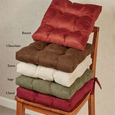 Victory Lane Faux Suede Chair Cushions