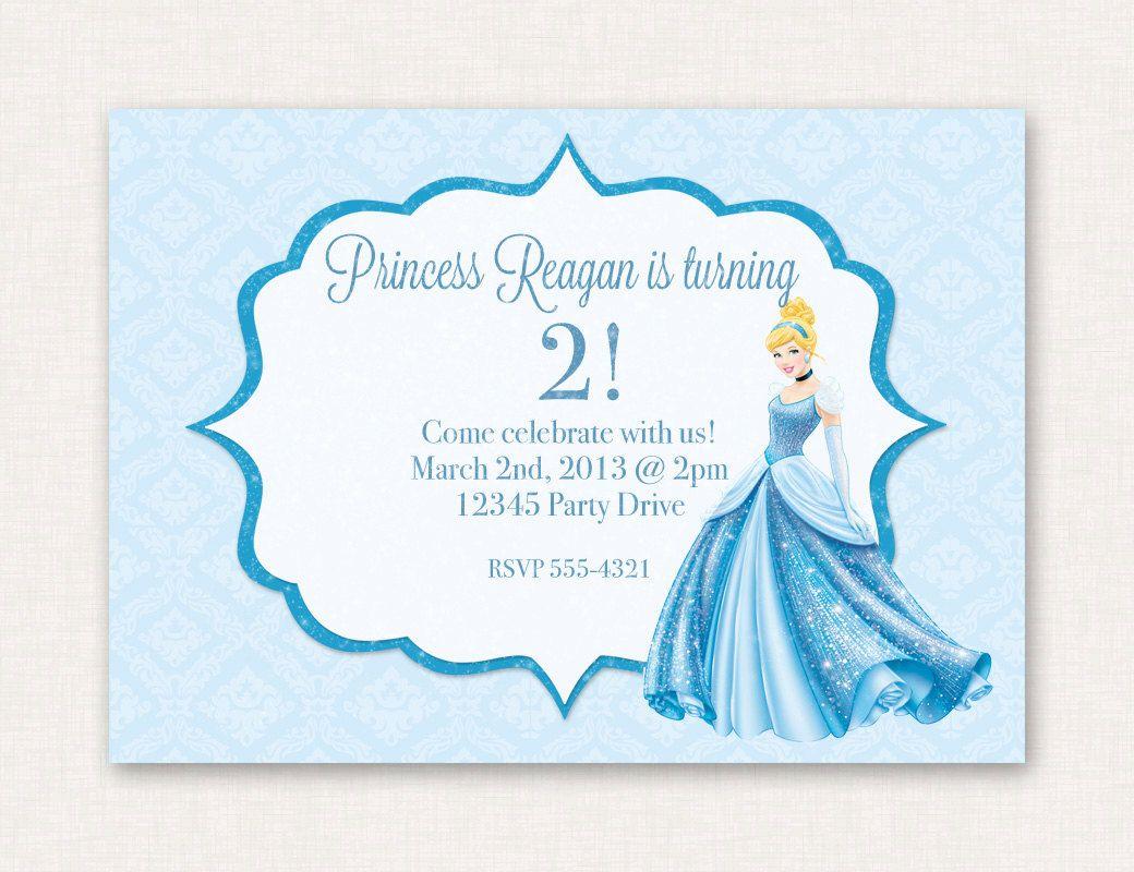 Cinderella Party Invitation by IllustriousDigitals on Etsy, $10.00 ...