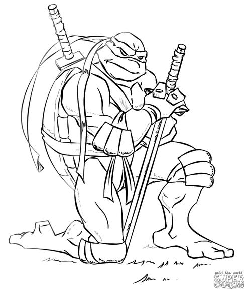 How To Draw Leonardo From Ninja Turtles Step By Step Drawing Tutorials Ninja Turtle Coloring Pages Turtle Coloring Pages Ninja Turtle Drawing