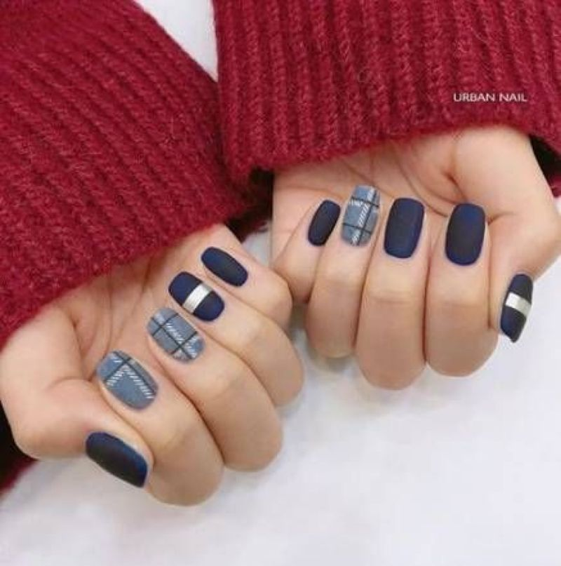 65 Beautiful Fall Nails Art Design Ideas for Women #fallnails