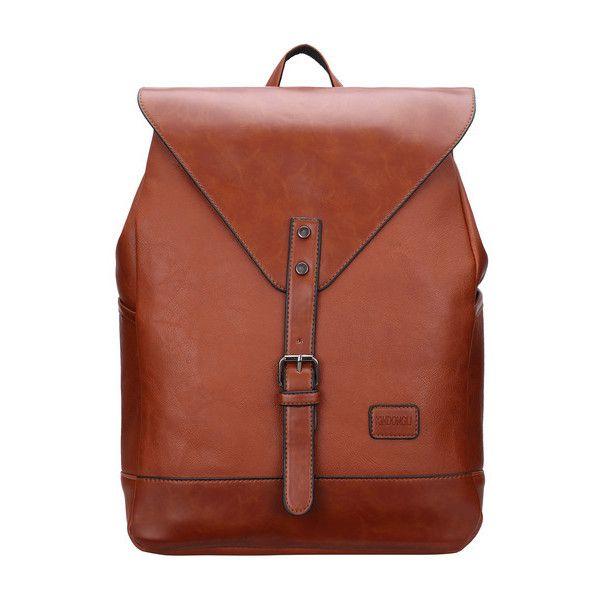 SheIn(sheinside) Brown Buckle Magnetic Oversized Backpacks ($22 ...