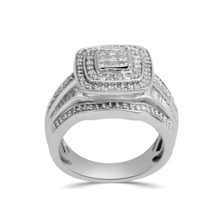 Diamond Wedding Band in Sterling Silver Size-6.75 1//8 cttw, G-H,I2-I3
