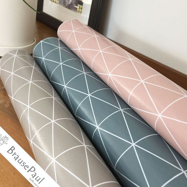 stoff grafische muster wachstuch grafik in 3 farben ein designerst ck von brausepaul shop. Black Bedroom Furniture Sets. Home Design Ideas