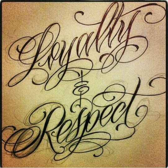 Gangster Loyalty Respect Tattoo Designs For Men