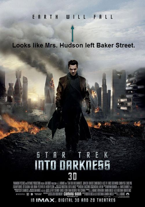 """""""Mrs. Hudson leave Baker Street? England would fall!"""" Or in this case, the whole Earth."""
