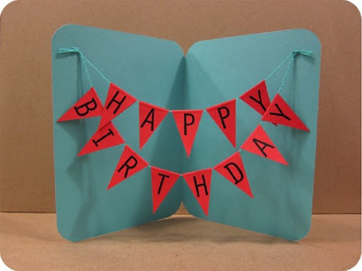 Happy Birthday Banner Card Popular Pins Pinterest – Pictures of Homemade Birthday Cards