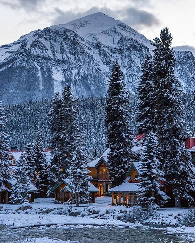Cozy Rustic Cabins Along The River In The Canadian Rockies