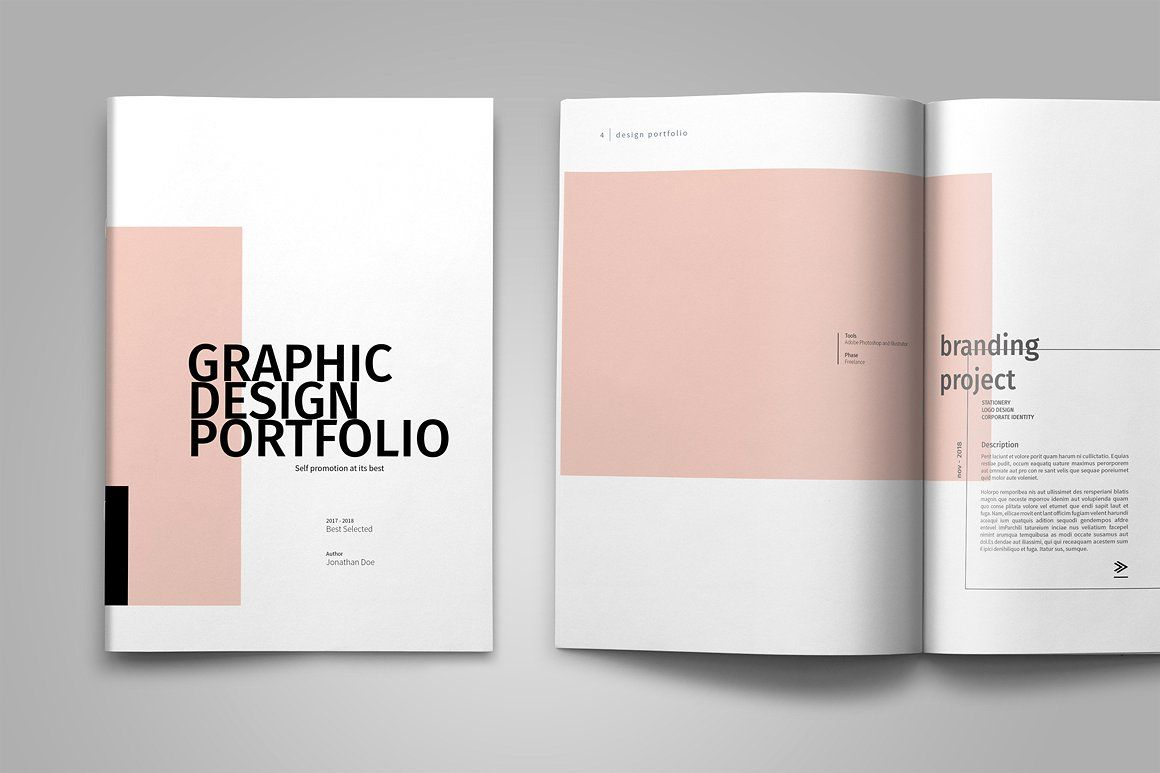 Graphic design portfolio template by tujuhbenua on for Innenarchitektur portfolio
