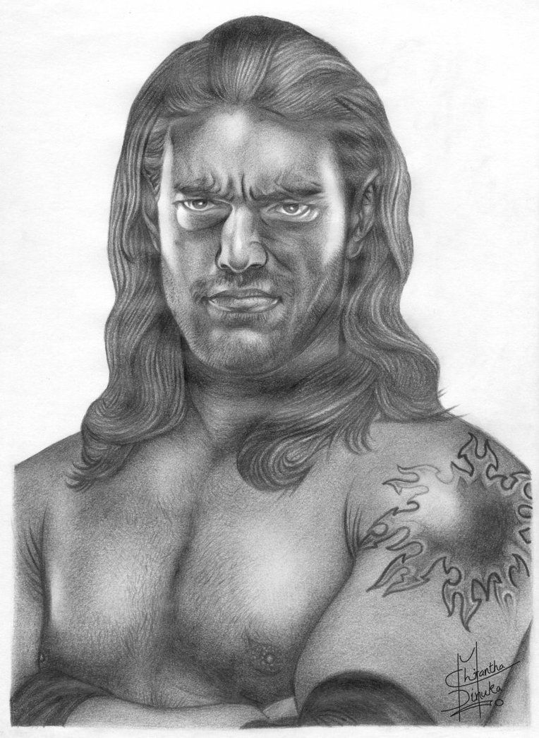 Wwe Edge Pencil Drawing By Chirantha Look