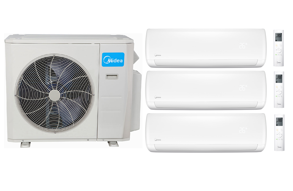 Midea 21 Seer In Minisplitwarehouse Looking For A Midea 21 Seer 1 9000btu 2 18000btu 3 Zone Mi Air Conditioner Units Heat Pump System Ductless Air Conditioner