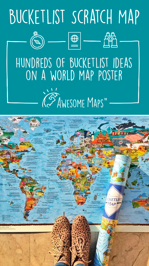 Bucketlist map scratch edition hundreds of bucket list ideas on a bucketlist map world mapsplanet gumiabroncs Gallery