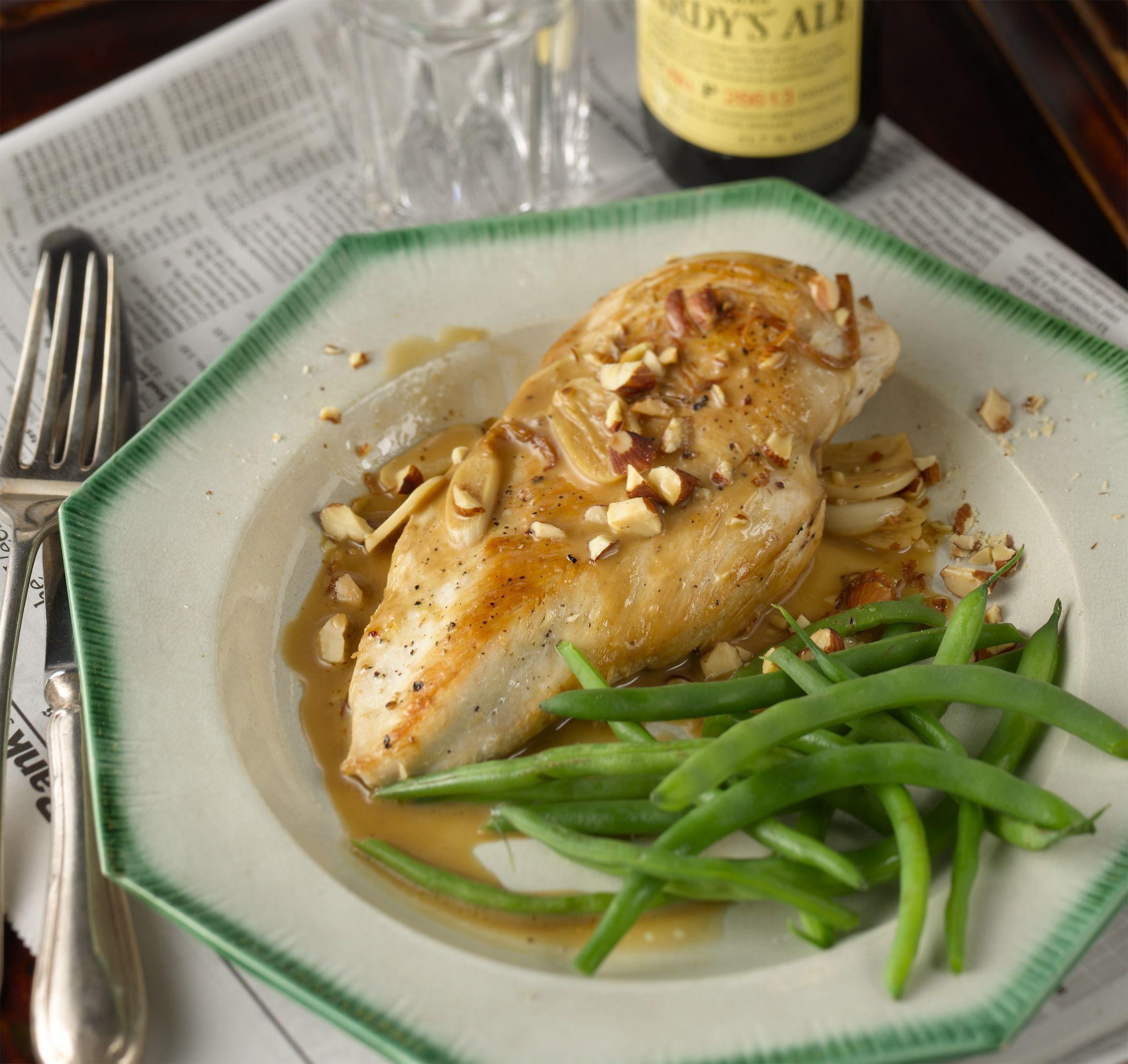 Flash Chicken Sauté with Cider and Almonds Chicken