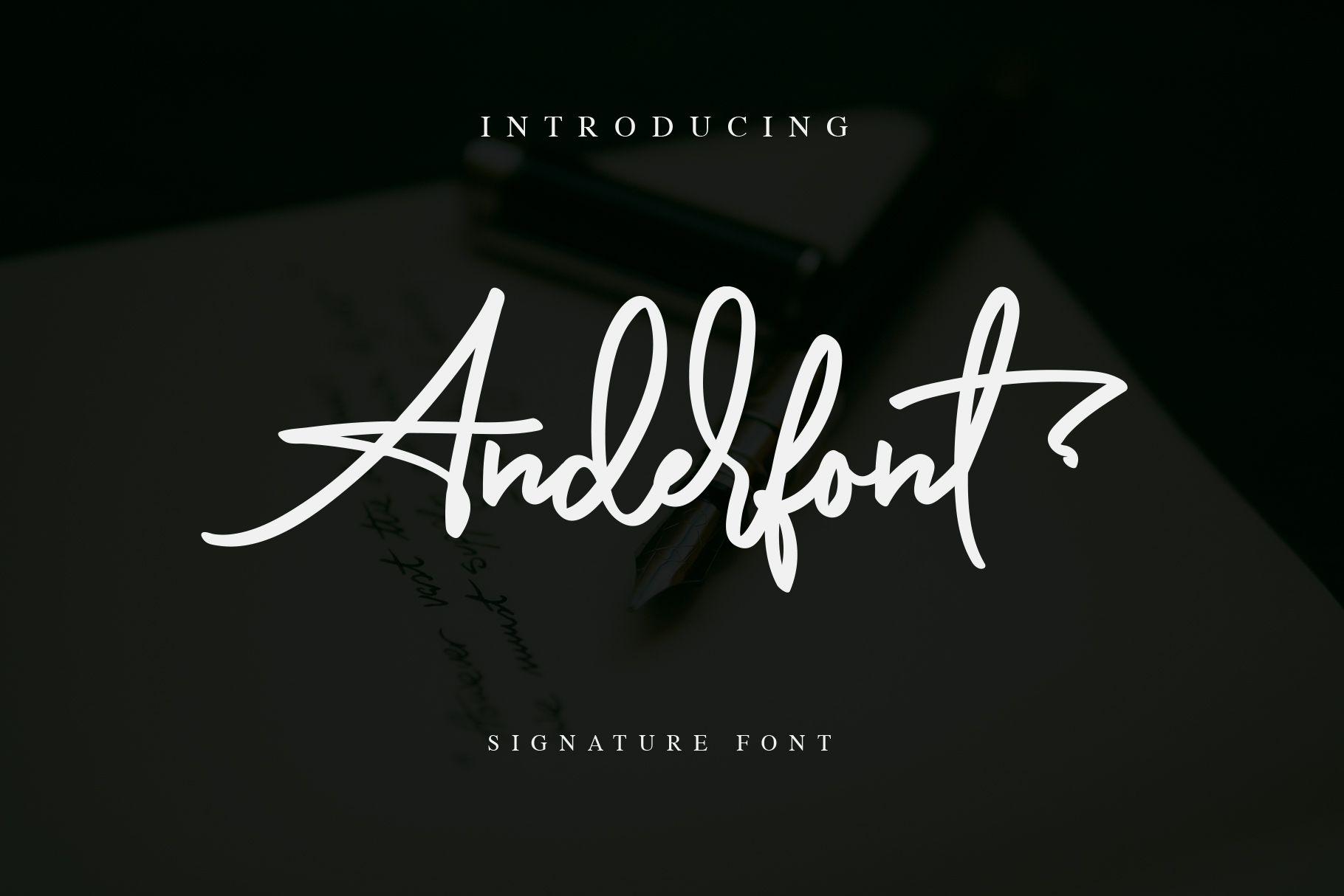 Anderfont a Signature Font Signature fonts