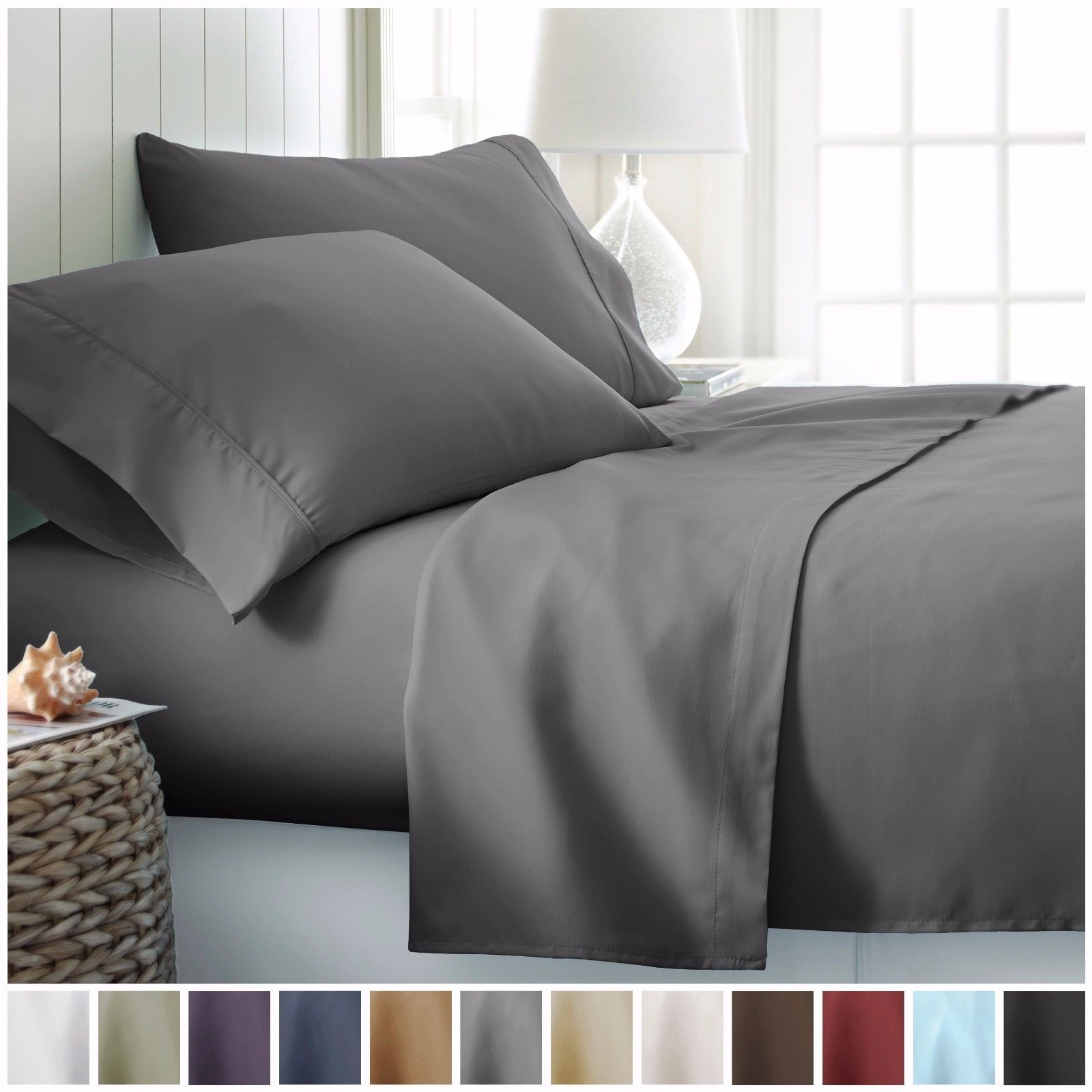 Egyptian Comfort 1800 Count Hotel Quality 4 Piece Deep Pocket Bed