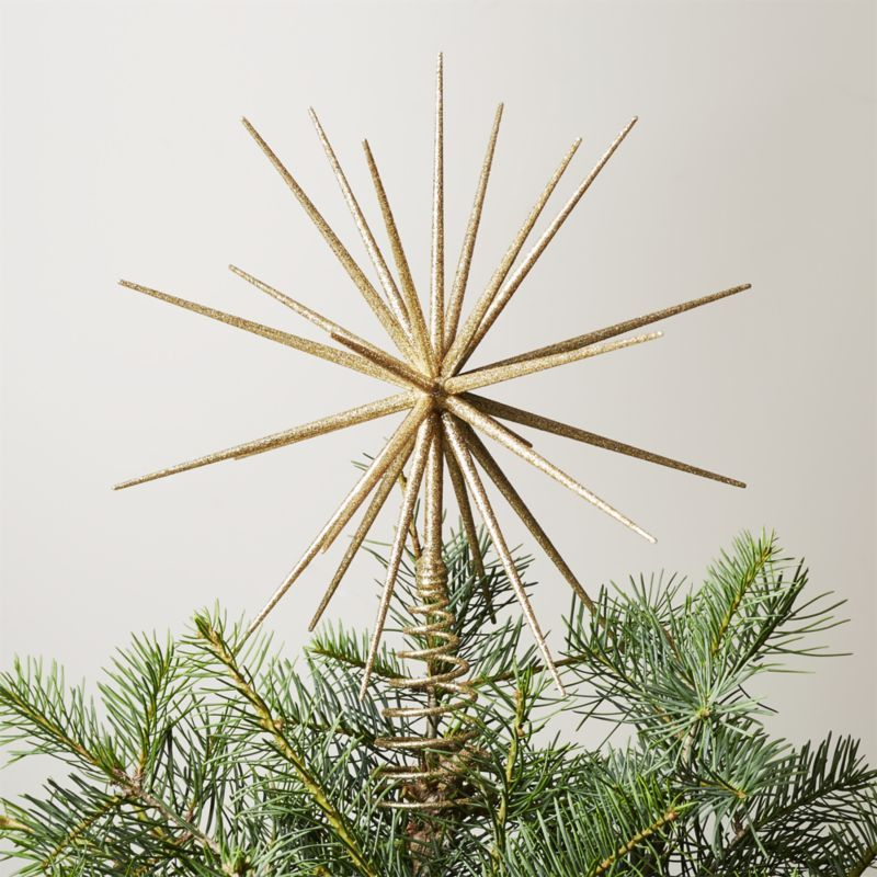Shop Glitter Gold 3d Star Tree Topper This Tree Topper Radiates A
