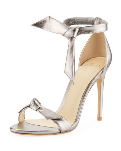 ALEXANDRE BIRMAN Clarita Metallic D'Orsay Sandal, Pewter. #alexandrebirman #shoes #sandals